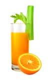 Succo e sedano di arancia Fotografia Stock Libera da Diritti