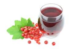 Succo rosso della bacca in vetro, alimento sano immagine stock libera da diritti