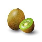 Succo verde del kiwi in una bottiglia di vetro per il logo della pubblicità e dell'annata di progettazione, frutta, trasparente,  Immagine Stock Libera da Diritti