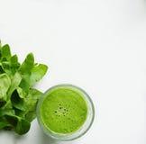 Succo verde della disintossicazione Fotografie Stock Libere da Diritti
