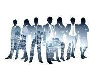 Succès de silhouette d'affaires Image libre de droits