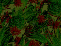 Succulent σχέδιο, άνευ ραφής σχέδιο Στοκ Εικόνες