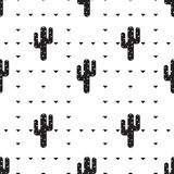 Succulent and cactus pattern stock illustration