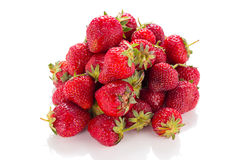 Succulent juicy fresh ripe red strawberries Royalty Free Stock Photo