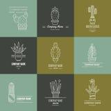Succulent Logotypes Royalty Free Stock Image