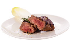 Succulent medium rare beef steak Stock Image