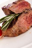 Succulent medium rare beef steak Stock Photography