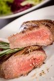 Succulent medium rare beef steak Stock Image