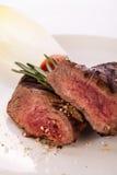 Succulent medium rare beef steak Royalty Free Stock Photography