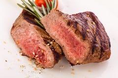 Succulent medium rare beef steak Royalty Free Stock Photo
