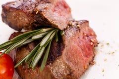 Succulent medium rare beef steak Royalty Free Stock Image