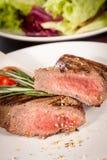 Succulent medium rare beef steak Stock Images