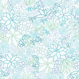 Succulent Plants Seamless Pattern Background Royalty Free Stock Image