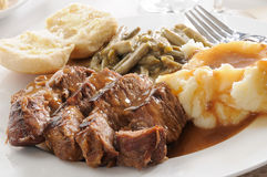 Succulent pot roast Royalty Free Stock Photos