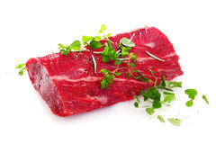 Succulent raw fillet steak Stock Photos
