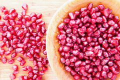 Succulent ripe pomegranate seeds or arils Stock Photo