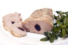 Succulent roast pork tenderloin Stock Image