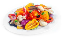 Succulent roasted vegetables side dish Royalty Free Stock Photos