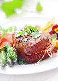 Succulent tender fillet steak Royalty Free Stock Image