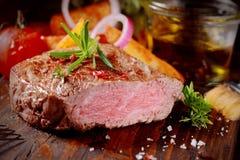 Succulent tender rare beef steak Stock Image