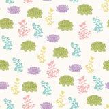 Succulents vector naadloos patroon Stock Foto