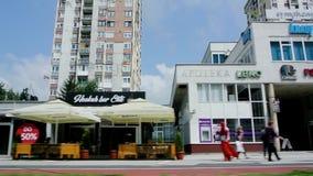 Succursale bancaria del quartiere generale di Sberbank a Sarajevo Bosnia stock footage
