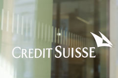Succursale bancaria di Credit Suisse fotografie stock libere da diritti