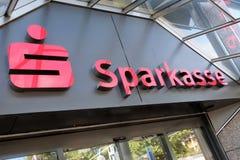 Succursale bancaria di Sparkasse del berlinese Fotografia Stock