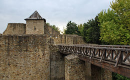 Romania Travel: Suceava Castle Bridge Stock Photo
