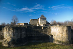 Suceava fortress. The capital of medieval Moldavia Stock Photos