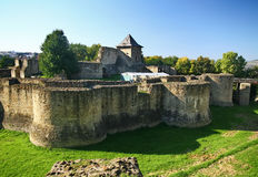 Suceava fortress. The citadel was built in 14-th century by Petru Musat, developed and strengthen by Alexandru the Kind and later by Stephan the Great, who Stock Photos