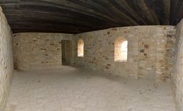 Suceava Fortress-empty room Royalty Free Stock Image