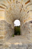 Suceava Fortress - Stone Window Royalty Free Stock Photo