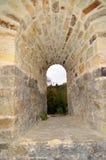 Suceava Fortress - Stone window royalty free stock photo