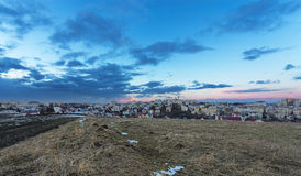 Suceava. Wide view of the town of Suceava, Romania Royalty Free Stock Photography