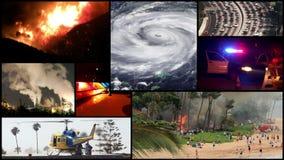 Sucesos actuales, temas de las noticias - problemas sociales (montaje) almacen de video