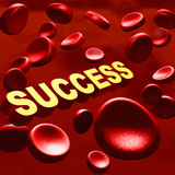 Sucess in blood Royalty Free Stock Photography
