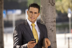 Sucessful businessman Stock Images