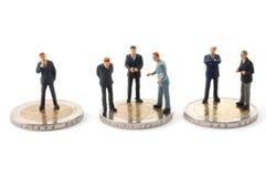 Sucessful Geschäftsmann ein Geld getrennt Stockbilder