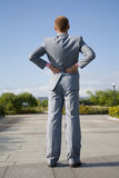 Sucessfull man. Near office building Royalty Free Stock Image