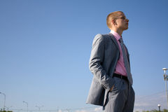 Sucessfull man. Near office building Stock Photography