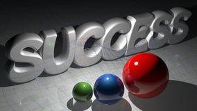 Sucesso com esferas Foto de Stock Royalty Free
