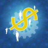 Sucesso comercial e trabalhos de equipa Imagem de Stock Royalty Free