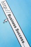 Sucesso comercial em linha Imagem de Stock
