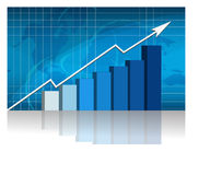 Sucesso de negócio - gráfico Fotografia de Stock