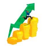 Sucesso do homem do investimento Ilustração Stock