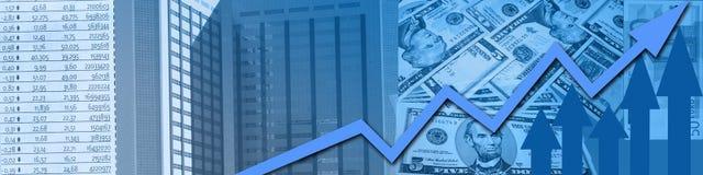 Sucesso do mercado de valores de acção Fotografia de Stock