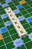 SUCESSO do Scrabble foto de stock