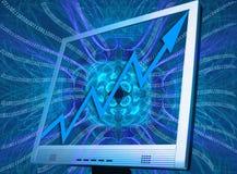 Sucesso dos computadores, o binário e upgoing. Imagem de Stock Royalty Free