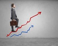 Sucesso e determinação no negócio imagens de stock royalty free
